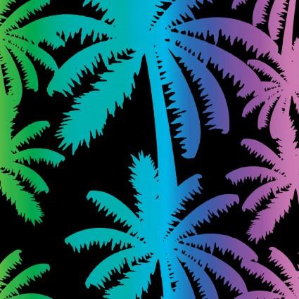 9716-12 Tropical Breeze - Palm Black