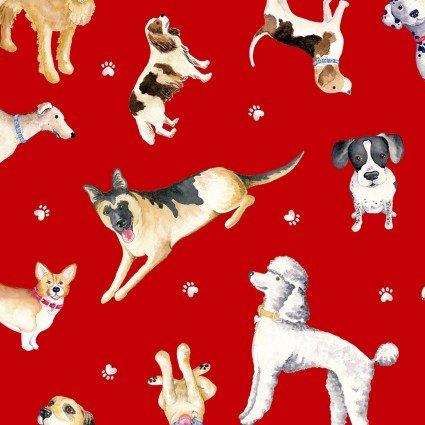 Think Pawsitive Dogs on Red