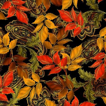 Radiance Metallic Radiant Leaves on Black