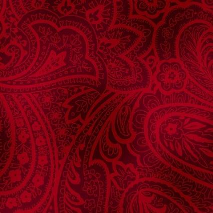 Backing Fabric Radiant Paisley 108 Brick Red