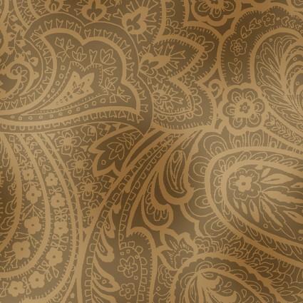 Backing Fabric Radiant Paisley 108 Sephia