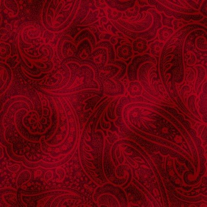 Radiant Paisley Red 108