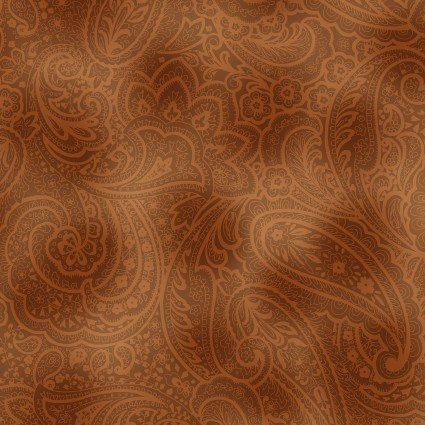 108 Wideback Radiant Paisley- Saddle Brown