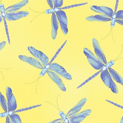 Moonlit Dragonflies Yellow