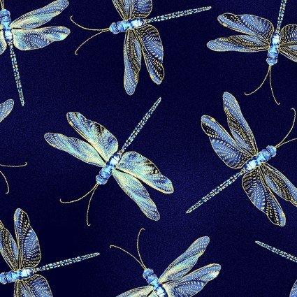 Moonlight Serenade Dragonflies Indigo