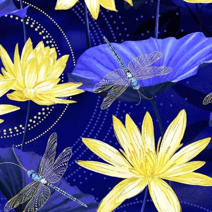Moonlight Serenade Garden Blue/Yellow