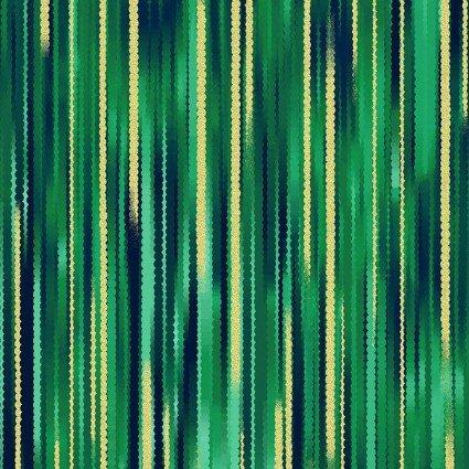 Moonlight Serenade - Emerald Green Stripe