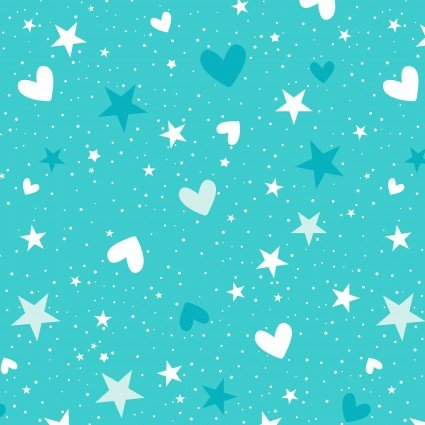 Blue Stars/Hearts Unicorn Magic Pearlescent