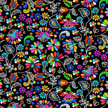 Dazzling Garden - Garden Party Black