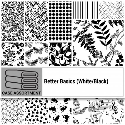 Squares 5 Square Pack 42 pieces Better Basics (White/Black)