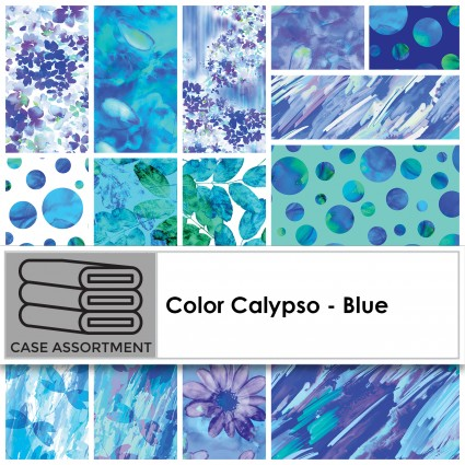 Color Calypso - Blue  10 by 10  42 pieces