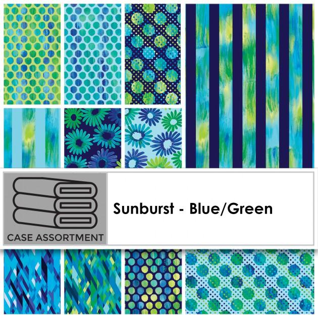 Sunburst - Blue/Green