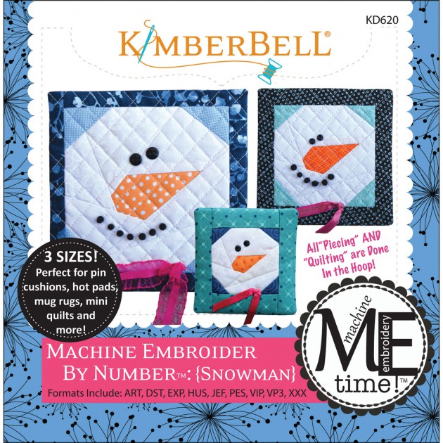 Machine Embroider By Number: Snowman