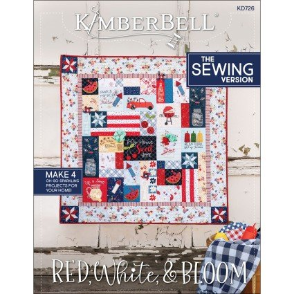 Pre-order KB Red, White & Bloom Quilt - Sewing Pattern