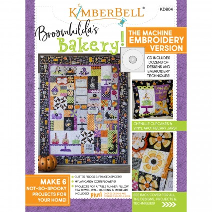 Broomhilda's Bakery Book with Emproidery CD