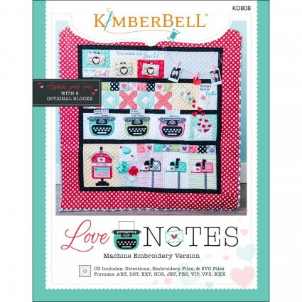 Love Notes Mystery Quilt Machine Embroidery Kit