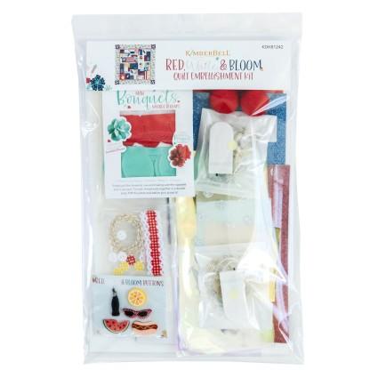 Red, White & Bloom Embellishment Kit