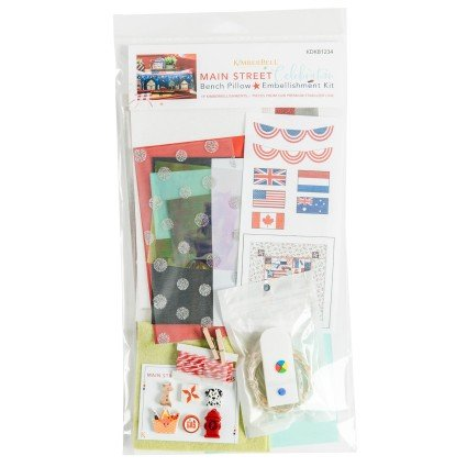 Main Street Celebration Bench Pillow Embellishment kit