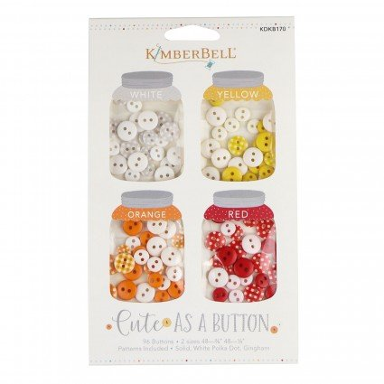 Kimberbell Cute as a Button White, Yellow, Orange, Red