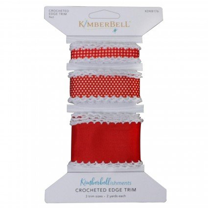Kimberbell Crocheted Edge Trim - Red