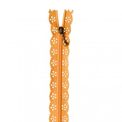 Kimberbellishments 14in Lace Zipper Apricot