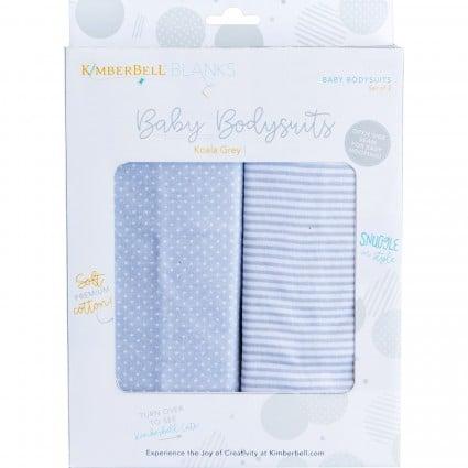 Baby Bodysuit - Koala Grey (9-12 Months) -Pack of 2