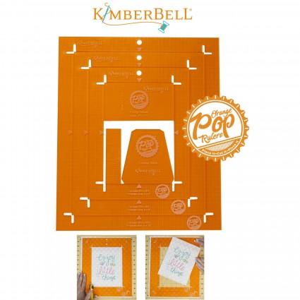 Orange Pop Ruler Set- Rectangle