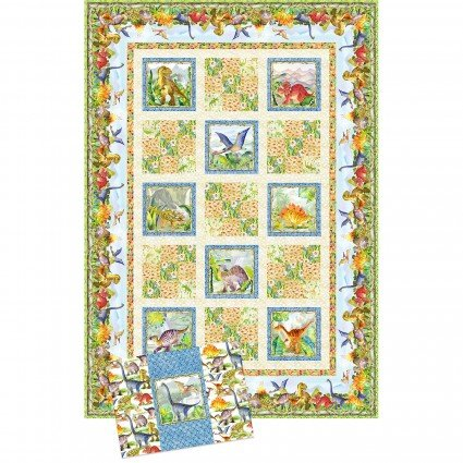 Dinosaur Friends Quilt and Pillow Case Kit