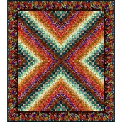 Floragraphix V X-Trip Quilt Kit - Multi