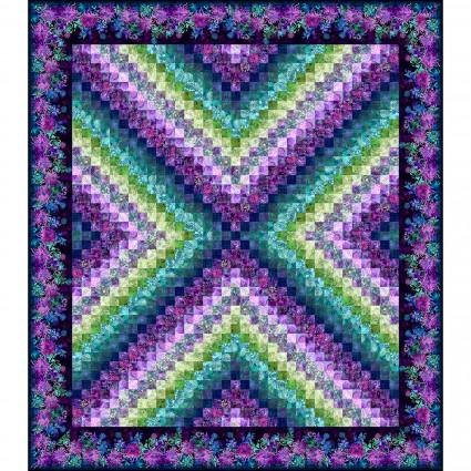 Floragraphix V X-Trip Quilt Kit Purple