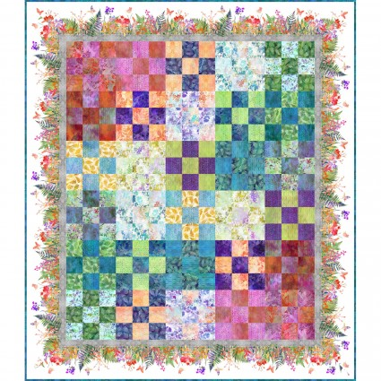 Garden of Dreams Garden 9-Patch Quilt Kit