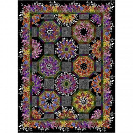 Rainbow of Jewels One Fabric Kaleidoscope Quilt Pattern