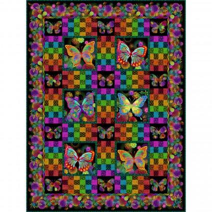 Unusual Garden II Butterfly Quilt Pattern