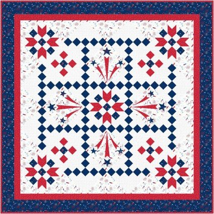 Red, White & Bloom Liberty's Smile Quilt Kit 70 x 70