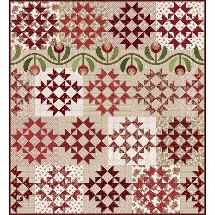 Ruby Red Quilt Kit 64'x70 by Bonnie Sullivan Maywood Studio