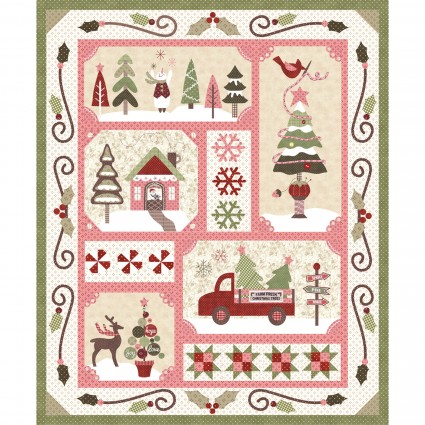 Sew Merry Kit Light Finished quilt: 60 x 71