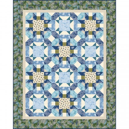 Turtle Beach Quilt Kit by the Whimsical Workshop, KIT-MASTBE, 55 x 69