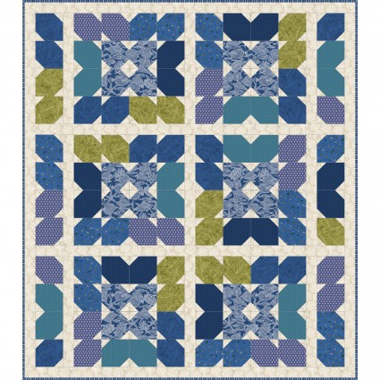 Turtle Bay Quilt Kit by Maywood Studio, 70 x 80