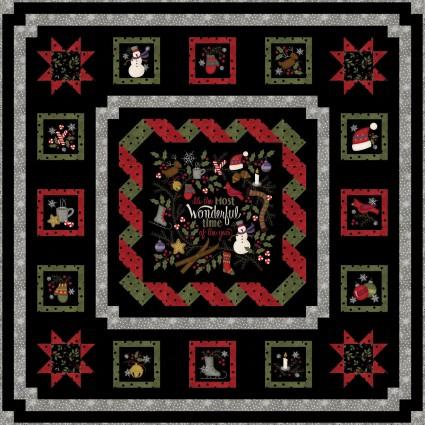 Winter Joy Flannel Kit Quilt