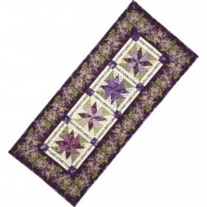 Quilt Kit - Whirligig Table Runner - Aubergine - 25in. x 56in.