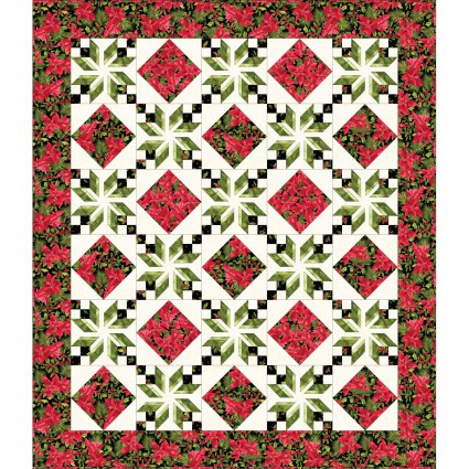 Poinsettia & Pine - Eden Quilt Kit