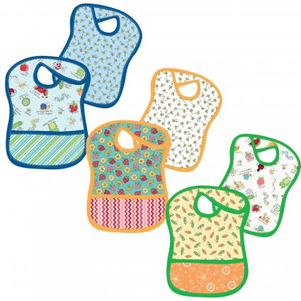 Kit Lil' Sprout Flannel Too! Tiny Tot Bibs