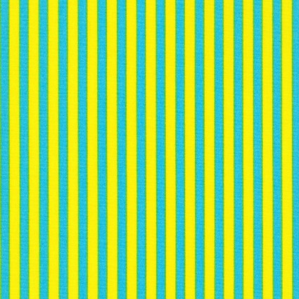 Japanese Stripe Cotton Sheeting - Blue and Yellow
