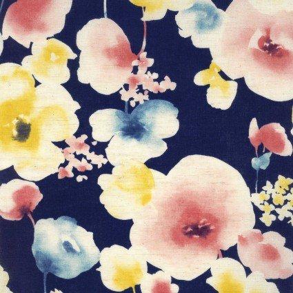 Natural Garden Floral / Navy