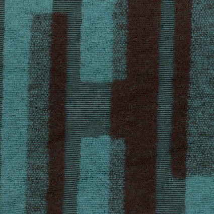 Japanese Jacquard Knit - Teal Geometric