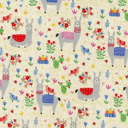 Animal World Kokka Cotton/Linen Canvas