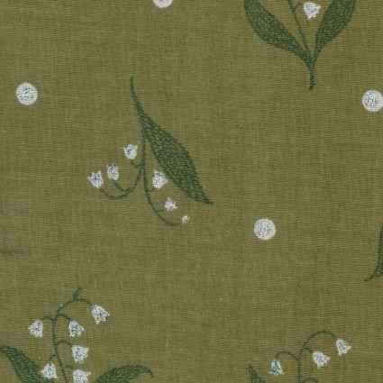 Natural Flower (Lilies of the Valley) umber double gauze