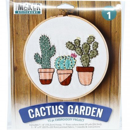 Mini Maker: Stitchery Kit Cactus Garden