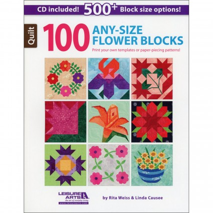 100 Any Size Flower Quilt Blocks