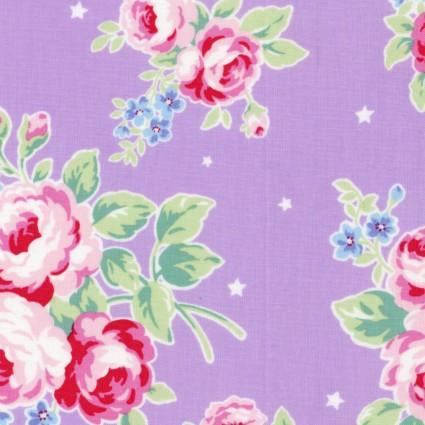 Purple large floral